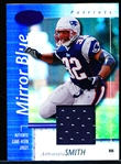 "2002 Leaf Certified Ftbl.- ""Mirror Blue Jersey""- #53 Antowain Smith, Patriots- #25/50"