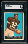 1961 Topps Football- #71 Jimmy Brown, Browns- SGC 4 (Vg-Ex)