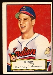 1952 Topps Baseball- #10 Al Rosen, Cleveland- Red Back