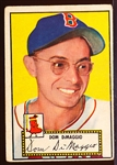 1952 Topps Baseball- #22 Dom DiMaggio, Red Sox- Red Back