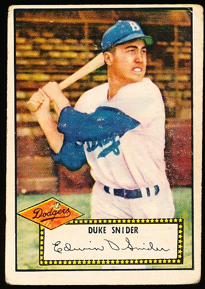 1952 Topps Baseball- #37 Duke Snider, Dodgers- Red Back