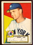 1952 Topps Baseball- #49 Johnny Sain, Yankees- Correct Back- Red Back