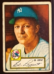 1952 Topps Baseball- #57 Ed Lopat, Yankees- Red Back