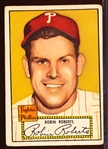 1952 Topps Baseball- #59 Robin Roberts, Phillies- Red Back