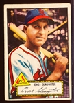 1952 Topps Baseball- #65 Enos Slaughter, Cards- Red Back
