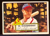 1952 Topps Baseball- #91 Red Schoendienst, Cards