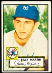 1952 Topps Baseball- #175 Billy Martin RC, Yankees