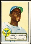 1952 Topps Baseball- #195 Minnie Minoso, White Sox