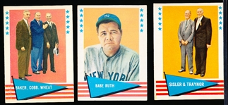 1961 Fleer Bb Greats- 3 Cards