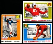 1955 Topps Fb All American- 3 Diff