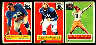 1956 Topps Fb- 14 Diff