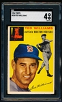 1954 Topps Baseball- #250 Ted Williams, Red Sox – SGC 4 (Vg-Ex)