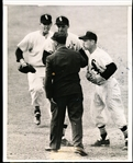 4/1/55 United Press Wirephoto- Umpire Augie Donatelli Arguing with Nellie Fox and two other White Sox Players