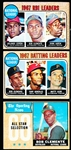 1968 Topps Bb- 3 Cards