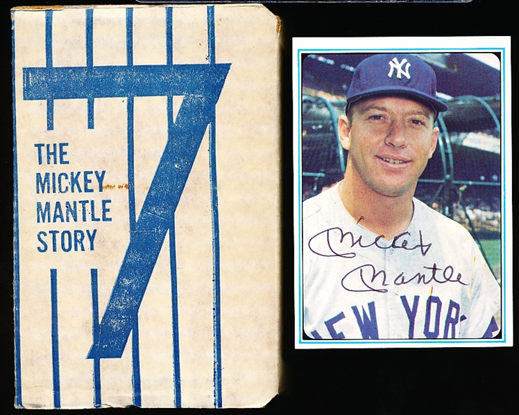 "1982 AU Sports Autographs ""Mantle Story"" Factory Set with Signed #1 Mantle Card"