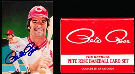 "Autograph within the 1985 Renata Galasso/Topps ""Pete Rose Baseball Card Set"" of 120 Cards with Card #1 Autographed!"