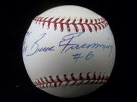 Autographed and Inscribed Umpire Bruce Froemming Official MLB Bsbl.