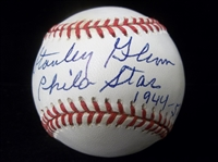Autographed and Inscribed Stanley Glenn, Negro Leaguer Official NL Bsbl.