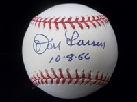 Autographed and Inscribed Don Larsen Official AL Bsbl.