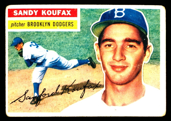 1956 Topps Baseball- #79 Sandy Koufax, Dodgers- White Back