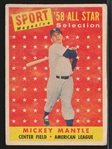 1958 Topps Baseball- #487 Mickey Mantle All Star