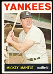 1964 Topps Baseball- #50 Mickey Mantle, Yankees