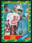 1986 Topps Football- #161 Jerry Rice RC, 49ers