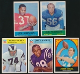 1960's Football Cards- 5 Diff