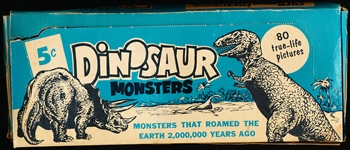 1961 Nu-Card Dinosaur Monsters Non-Sports- 1 Display Box