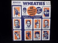 1952 Wheaties Multi-Sport Side & Back Panel from Box- Series H