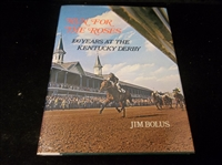 Autographed 1974 Run for the Roses: 100 Years at the Kentucky Derby, by Jim Bolus- Signed by HOF Jockey Eddie Arcaro