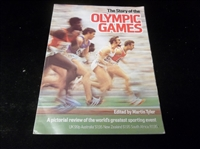 Autographed 1976 The Story of the Olympic Games, Edited by Martin Tyler- Signed by Olympic Champions Al Oerter & Jesse Owens!