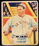 1934-36 Diamond Stars Bb- #44 Rogers Hornsby, Browns- 1935 Green Print Back