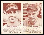 1941 Double Play Bb- #35 Klinger/#36 Stanley Brown (Pirates)