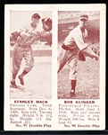 1941 Double Play Bb- #97 Stanley Hack (Cubs)/ #98 Bob Klinger (Pirates)