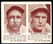 1941 Double Play Bb- #149 Debs Garms/ #150 Elbie Fletcher (Pirates)