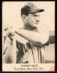 1947 Tip Top Bread Bb- Johnny Mize, New York NL