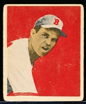 1949 Bowman Bb- #47 Johnny Sain, Boston Braves- Gray Back