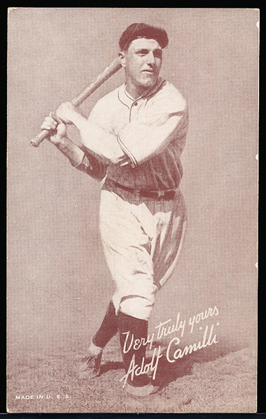 1939-46 Salutation Baseball Exhibit- Adolf Camilli, Very Truly Yours