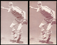 1939-46 Salutation Baseball Exhibits- Best Wishes, Marty Marion- 2 Variations