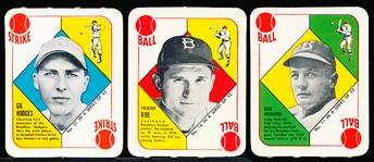 1951 Topps Baseball Red Backs- 3 Diff Brooklyn Dodgers