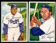 1952 Bowman Bb- 2 Diff Brooklyn Dodgers