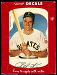 1952 Star Cal Decal- #77B Ralph Kiner, Pirates