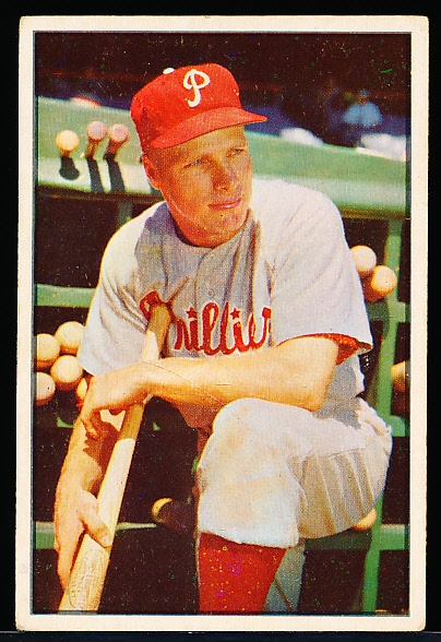 1953 Bowman Bb Color- #10 Richie Ashburn, Phillies