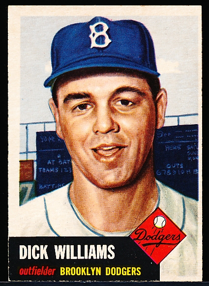 1953 Topps Baseball- #125 Dick Williams, Dodgers