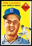 1954 Topps Baseball- #132 Tom LaSorda RC, Dodgers