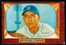 1955 Bowman Bb- #158 Gil Hodges, Brooklyn