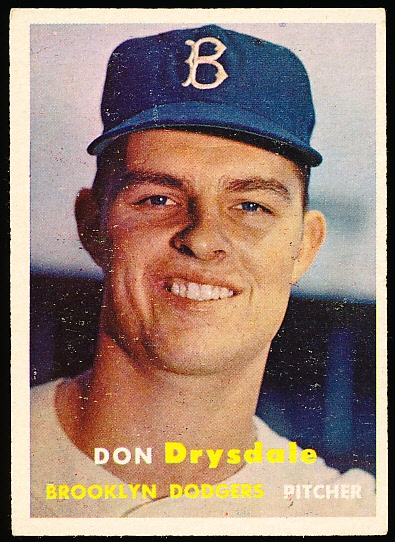 1957 Topps Baseball- #18 Don Drysdale RC, Dodgers