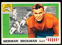 1955 Topps All- American Football- #1 Hickman, Tennessee