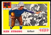 1955 Topps All- American Football- #24 Ken Strong, NYU